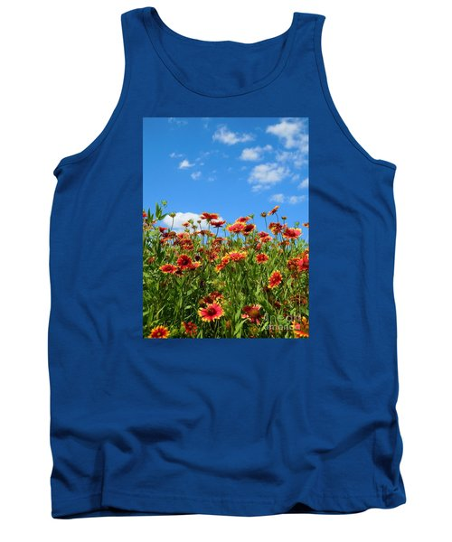 Tank Top featuring the photograph Wild Red Daisies #5 by Robert ONeil