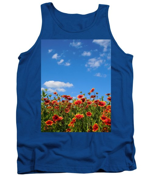 Tank Top featuring the photograph Wild Red Daisies #6 by Robert ONeil