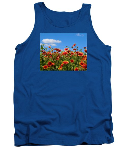 Tank Top featuring the photograph Wild Red Daisies #7 by Robert ONeil