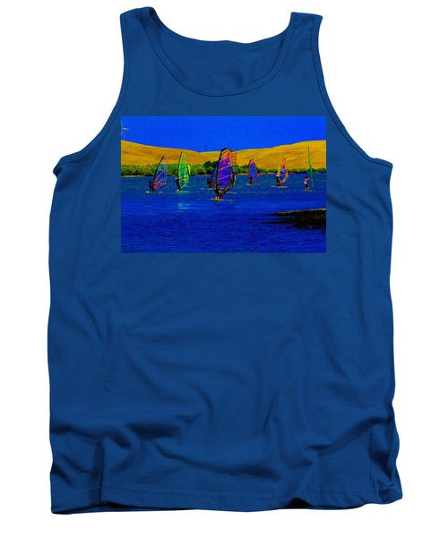 Wind Surf Lessons Tank Top