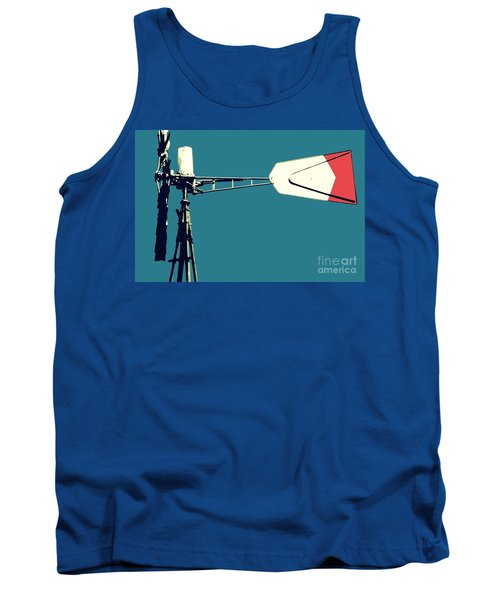 Tank Top featuring the digital art Windmill 2 by Valerie Reeves