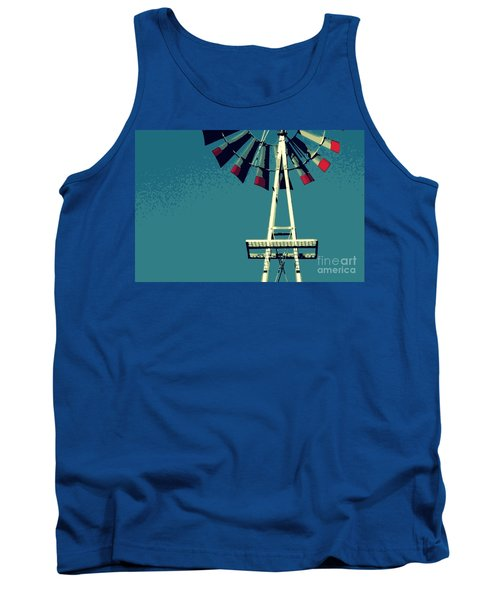 Tank Top featuring the digital art Windmill by Valerie Reeves