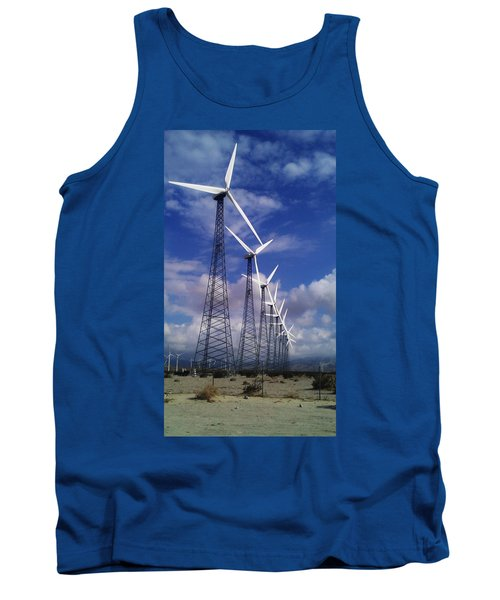 Tank Top featuring the photograph Windmills by Chris Tarpening