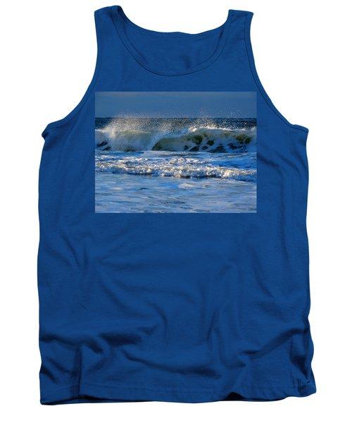 Winter Ocean At Nauset Light Beach Tank Top by Dianne Cowen