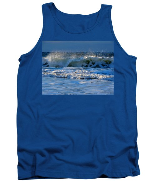 Winter Ocean At Nauset Light Beach Tank Top