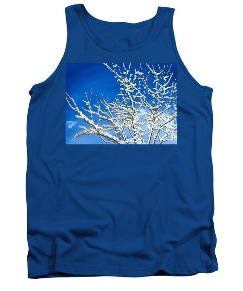 Tank Top featuring the painting Winter's Artistry by Barbara Jewell