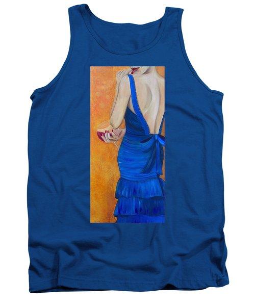 Woman In Blue Tank Top