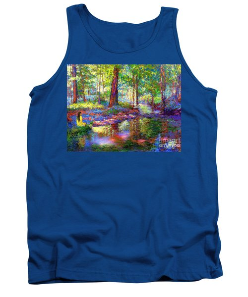 Tank Top featuring the painting Woodland Rapture by Jane Small