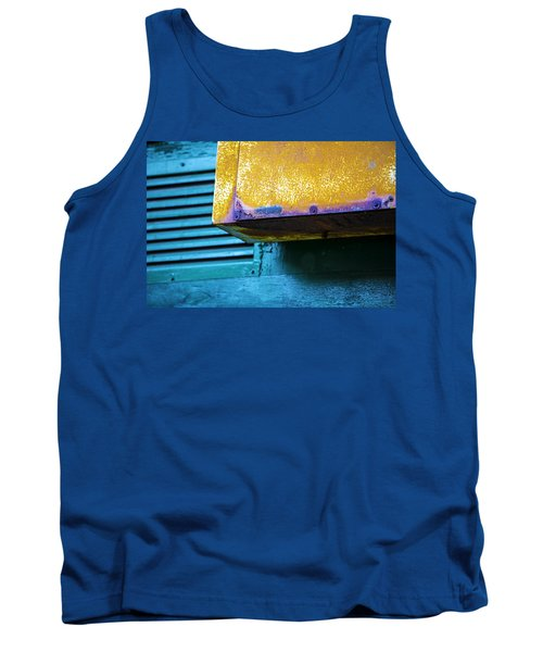 Yellow-blue Abstract Tank Top