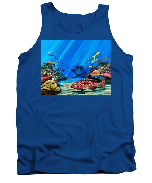 Yellowfin Grouper Wreck Tank Top by Steve Ozment