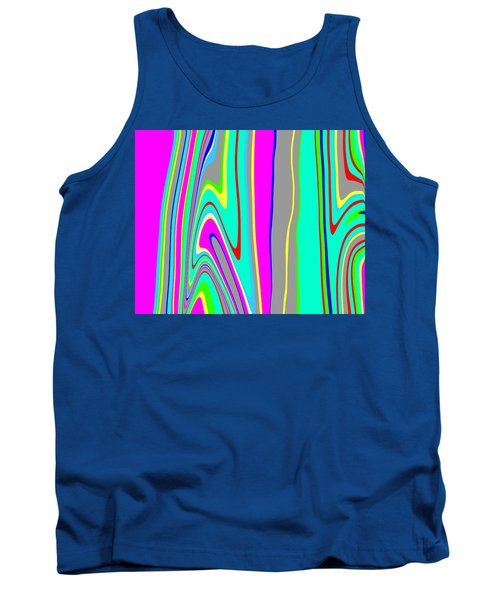 Tank Top featuring the painting Yipes Stripes II  C2014 by Paul Ashby