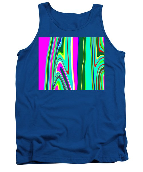 Tank Top featuring the painting Yipes Stripes II Variation  C2014 by Paul Ashby