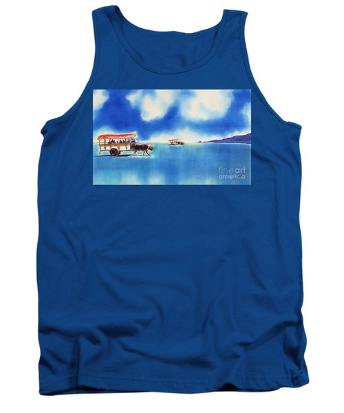 Yubu Island-water Buffalo Taxi  Tank Top