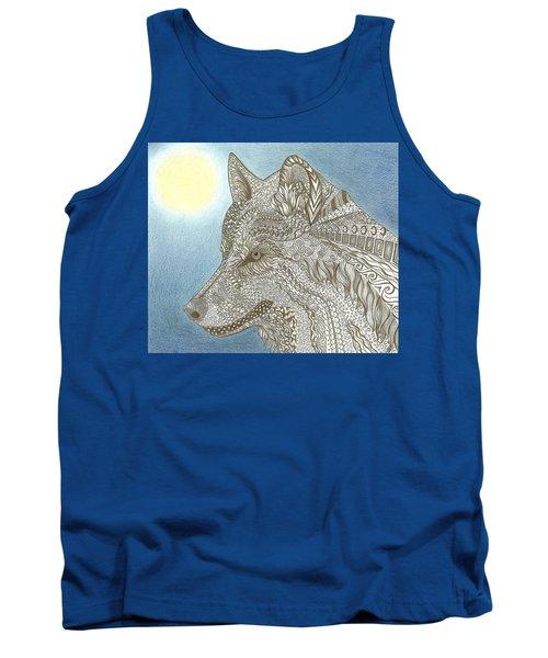 Zen Wolf Moon Tank Top