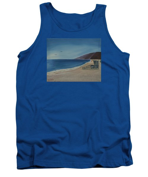 Zuma Lifeguard Tower Tank Top by Ian Donley