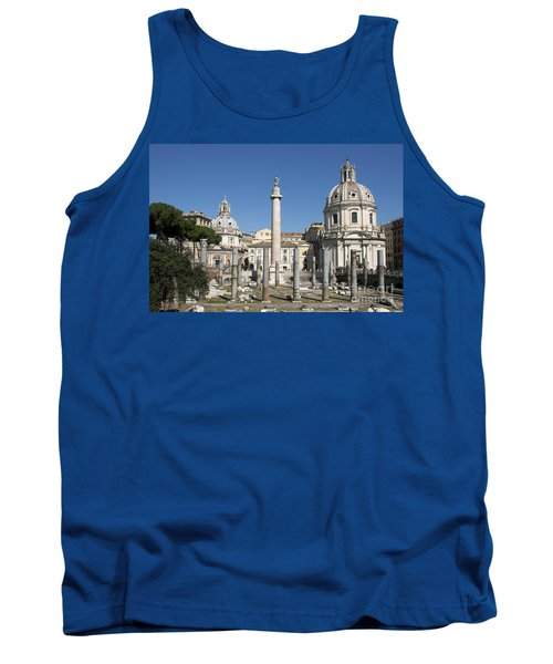 Imperial Fora With The Trajan's Column And The Church Santissimo Nome Di Maria.  Rome Tank Top