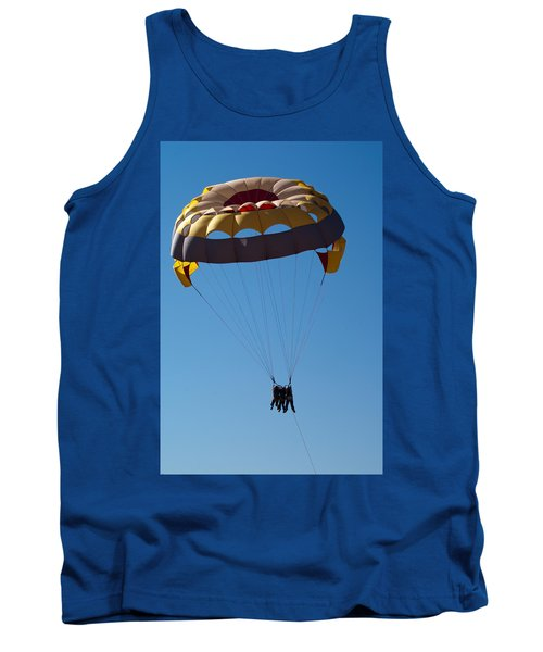 Tank Top featuring the photograph 3 People Para-sailing Pachmarhi by Ashish Agarwal