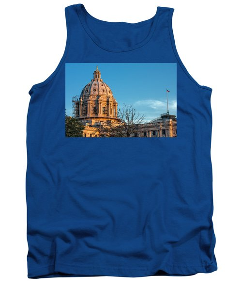 Tank Top featuring the photograph A Capitol Evening by Tom Gort