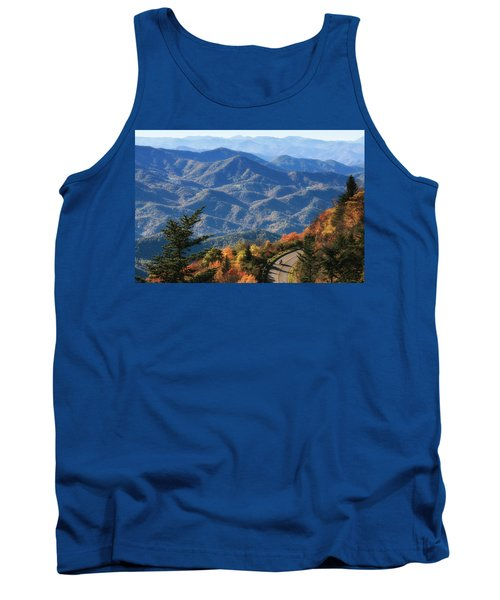 Autumn On The Blue Ridge Parkway Tank Top by Lynne Jenkins