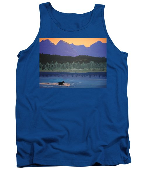 Tank Top featuring the painting Big Sky Country by Norm Starks