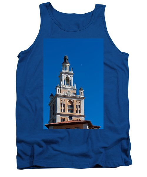 Tank Top featuring the photograph Coral Gables Biltmore Hotel Tower by Ed Gleichman
