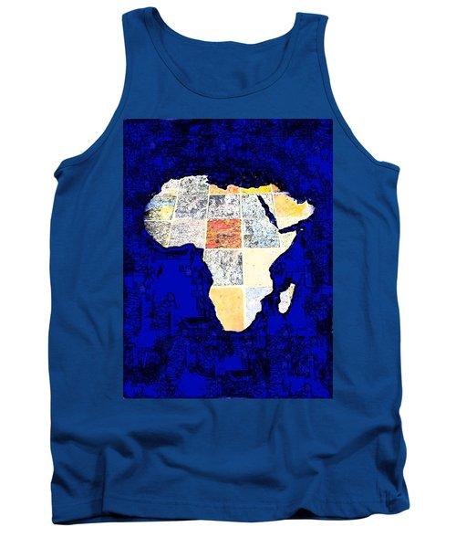 Blue Africa Tank Top by Anne Mott