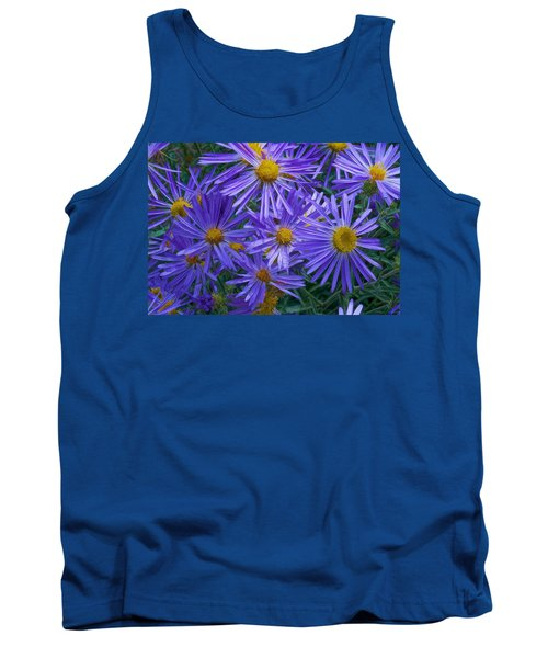 Blue Asters Tank Top