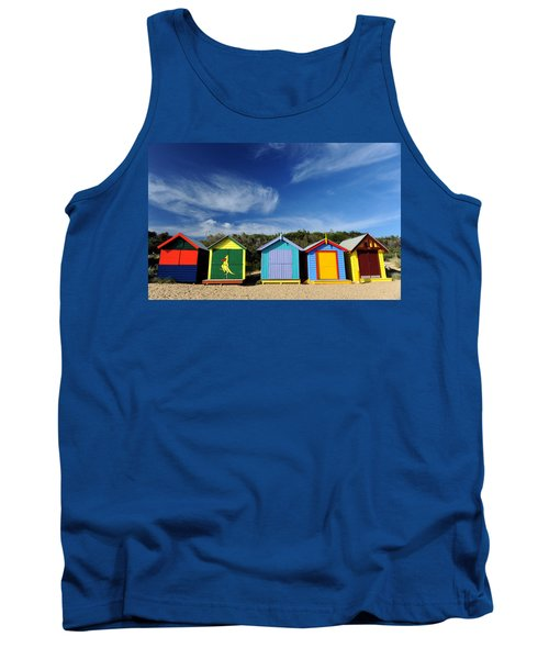 Tank Top featuring the photograph Brighton Beach by Yew Kwang