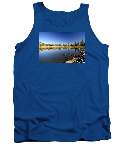 Calm Day On Red Lake Tank Top
