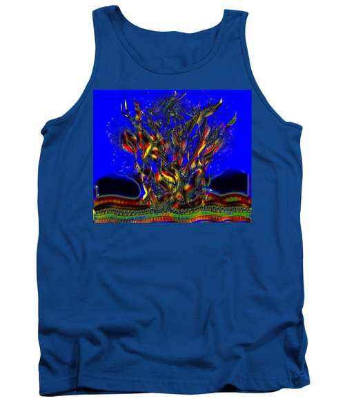 Tank Top featuring the digital art Camp Fire Delight by Alec Drake