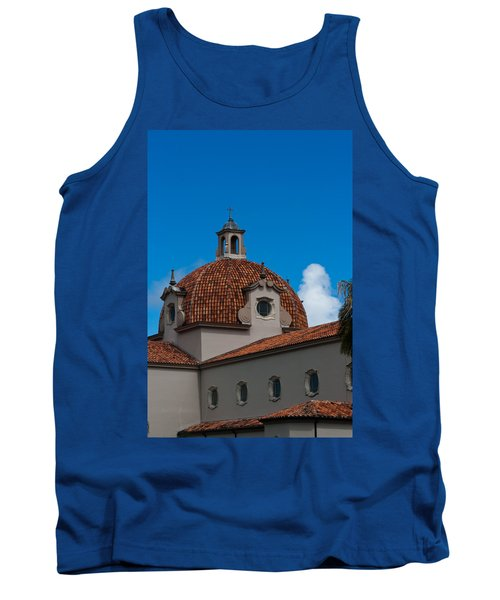 Tank Top featuring the photograph Church Of The Little Flower Dome And Cross by Ed Gleichman