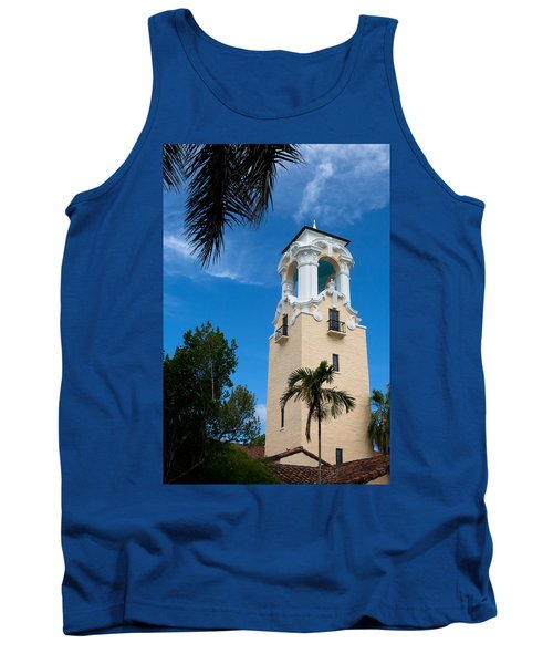 Tank Top featuring the photograph Congregational Church Of Coral Gables by Ed Gleichman