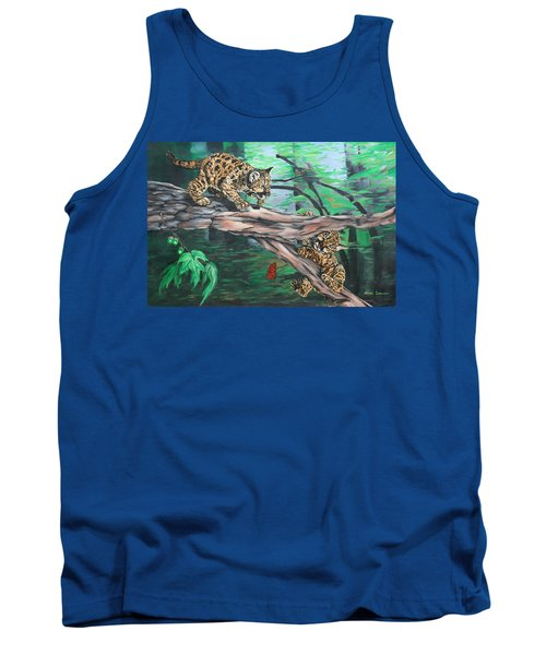 Cubs At Play Tank Top by Wendy Shoults