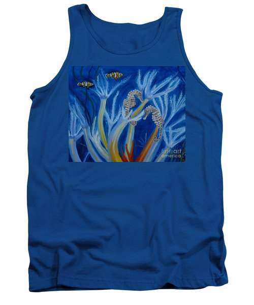 Tank Top featuring the painting Date Night On The Reef by Julie Brugh Riffey