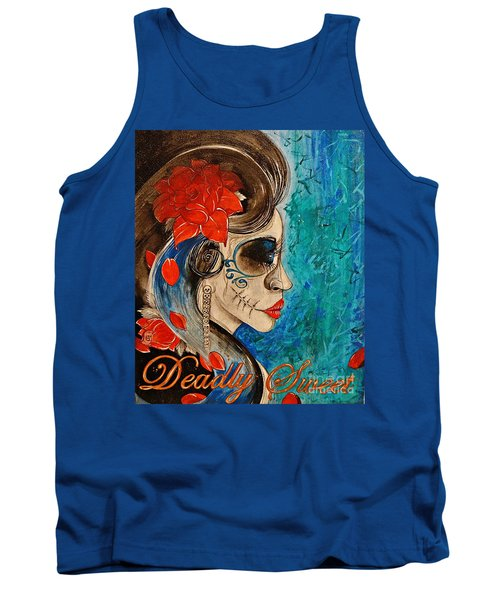 Tank Top featuring the painting Deadly Sweet by Sandro Ramani