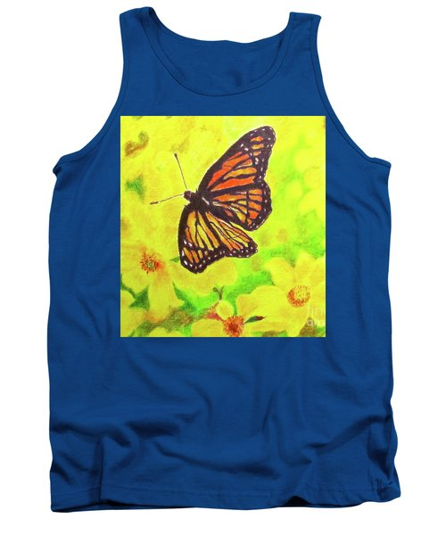 Tank Top featuring the drawing Free To Fly by Beth Saffer