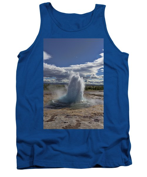 Tank Top featuring the photograph Geysir 2 by David Gleeson