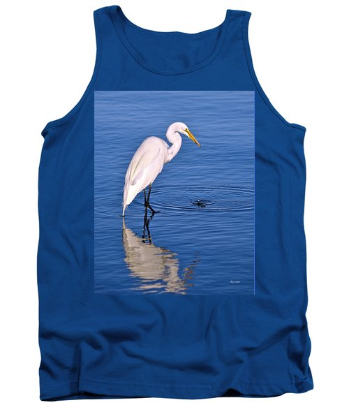 Great Egret With Shrimp Tank Top