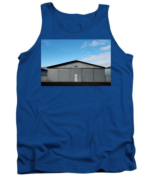 Tank Top featuring the photograph Hangar 2 The Building by Kathleen Grace