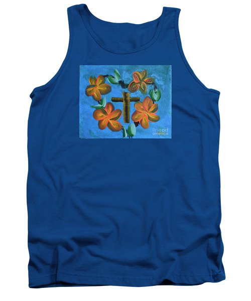 Tank Top featuring the painting His Love For Us by Donna Brown