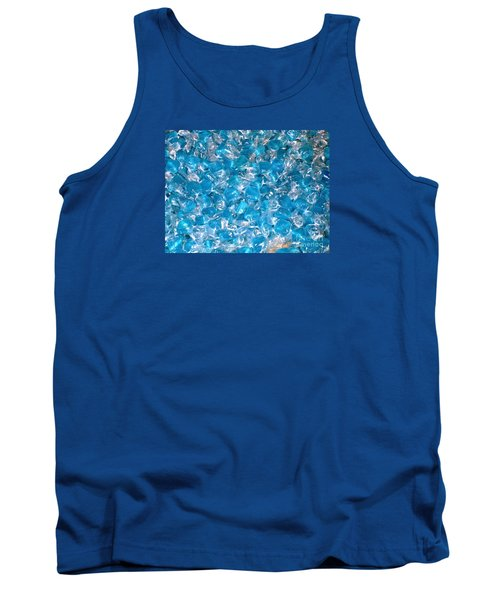 Tank Top featuring the photograph Ice Blues by Beth Saffer