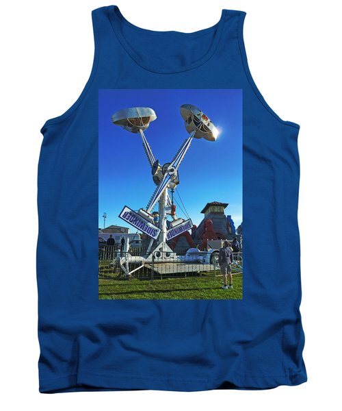 Tank Top featuring the photograph Into The Blue by Steve Taylor