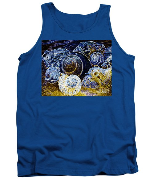 Abstract Seashell Art Tank Top