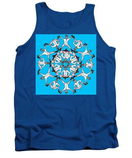 Tank Top featuring the drawing Kaleidoscoot by R  Allen Swezey