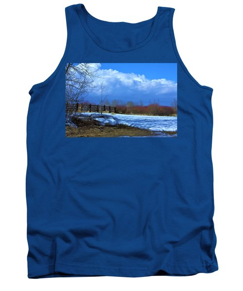 Tank Top featuring the photograph Landscape  Snow Scene by Johanna Bruwer