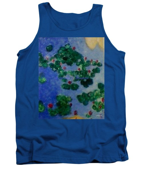 Tank Top featuring the painting Lily Pond by Sonali Gangane