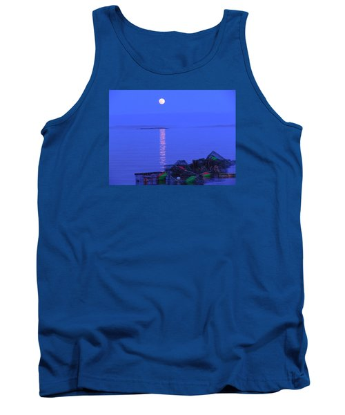 Tank Top featuring the photograph Lobstering Moon by Francine Frank