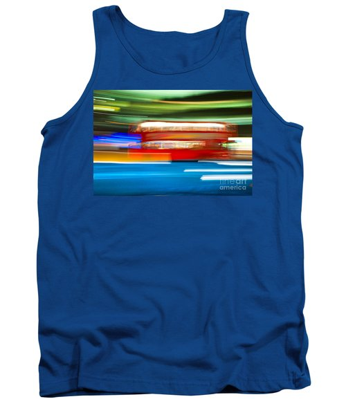 Tank Top featuring the photograph London Bus Motion by Luciano Mortula