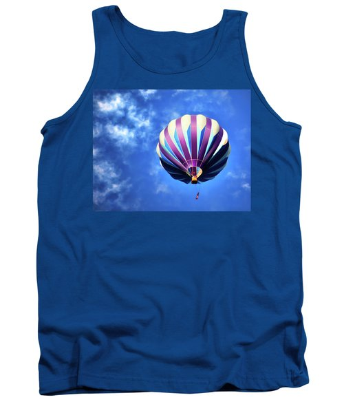 Tank Top featuring the digital art Majestic Blue by Gary Baird