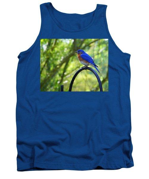 Mr Bluebird Tank Top by Judy Wanamaker